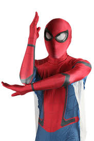 xcoser spiderman homecoming zentai costume for cosplay with web