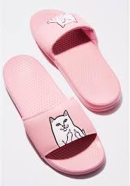pink slides ripndip pink lord nermal slides dolls kill