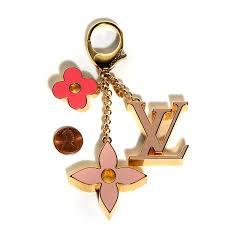 monogram charm louis vuitton fleur de monogram bag charm pink 101492