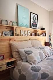 interesting idea built in headboard with nightstands ideas storage