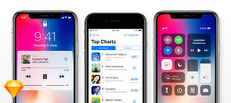 iphone ios 11 gui for sketch
