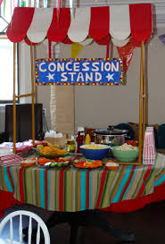 circus party concession stand food circus party circus party
