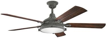 kichler ceiling fans with lights kichler 310117wzc hatteras bay patio weathered zinc 60 inch ceiling