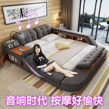 Double Bed by Usd 593 42 Massage Bed Tatami Bed Fabric Bed Double Bed Storage