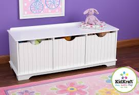 amazon com kidkraft nantucket storage bench white toys u0026 games
