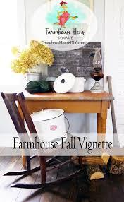 farmhouse hens decorate farmhouse fall vignette