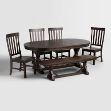 rustic brown wood brooklynn dining bench world market