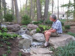 pictures of backyard waterfalls and streams house design ideas