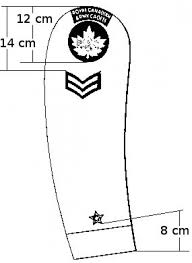 the right arm badge placement for canadian army cadet badges