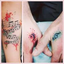 abstract tattoo water color tattoo music tattoo by kya dubois