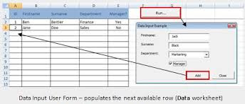excel vba free online reference guide user form input example