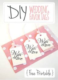 wedding favor tags labels for wedding favors free templates thank you tag printable