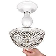 clip on light shade cover cut acrylic dome light bulb