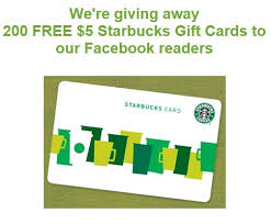 starbuck gift card deal win 1 of 200 5 starbucks gift cards from ugiftideas who said