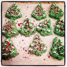 christmas tree rice crispy treats follow directions to make
