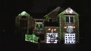 halloween 2016 projection house mapping with projector and atmosfx