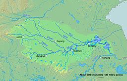 rivers in china map huai river