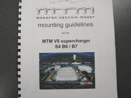 supercharged audi rs4 for sale mtm supercharger s4 rs4 b6 b7 4 2 for sale audiforums com