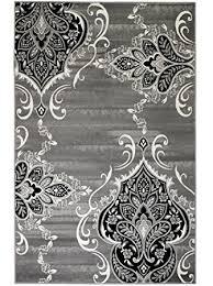 Gray And White Area Rug New Royal Damask Baroque Vintage Design Area Rug Grey