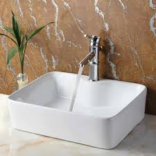 sinks modern tempered bathroom glass vessel sink with silver