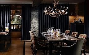 luxury ski chalet dining rooms ideas penaime