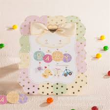 2016 blank kids birthday invitation card creative baby shower