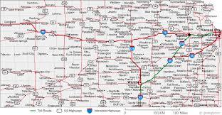 usa map kansas state map of kansas cities kansas road map