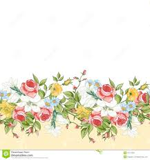 Design Patterns For Cards Seamless Floral Border Stock Vector Image 42710303