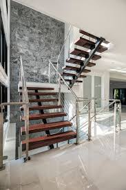 Modern Staircase Wall Design Innovative Wood Stair Treads Trend Other Metro Contemporary