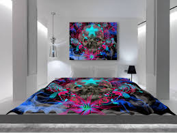 awesome skull bedroom decor on art comforter bedding stars and