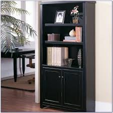 Bookcases With Doors Uk 28 Creative Black Bookcases With Doors Yvotube Inside Black With