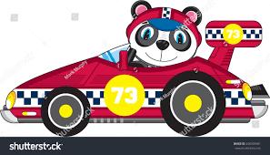 cartoon racing car panda stock vector 636504581 shutterstock