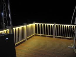 Outdoor Rope Lighting Ideas Deck Rail Lighting This Would Be Really Cool For The Summertime