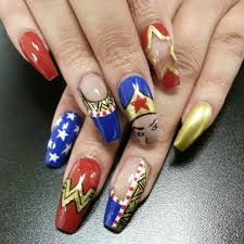 strawberry fields forever nail art tutorial wonder woman nails nail art pinterest wonder woman nails
