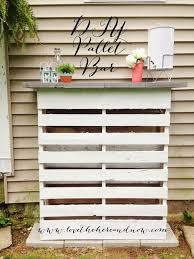 Pallet Furniture Bar Diy Pallet Bar Love The Here And Now