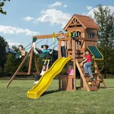 Amazon Backyard Playsets by Backyard Discovery Saratoga Cedar Swing Set 30011 Backyard
