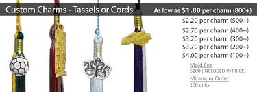 custom graduation tassels custom charms for tassels or cords honors graduation