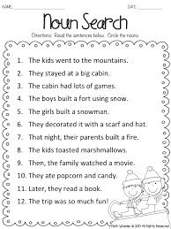 snow kids noun search freebie firstgradefaculty com pinterest