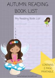 kids autumn reading book list printable the inspiration edit