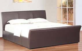 Superking Ottoman Bed Davinci Brown Faux Leather Ottoman Bed 6ft Kingsize Brown