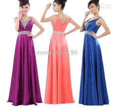 evening maxi dresses bridesmaid new evening prom maxi gown party formal v neck design