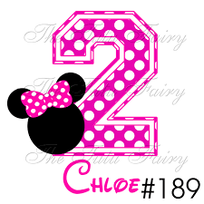 minnie mouse 2nd birthday clipart clipartxtras