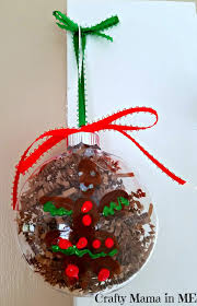 how to make fingerprint gingerbread ornaments crafty in me