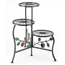 3 flower decorative indoor outdoor pot plant stand shelf rack new