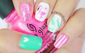 flamingo nails bonus diy nail polish sticker youtube