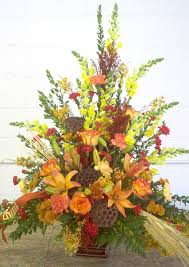 Funeral Flower Bouquets - fall funeral arrangement lots of fall funeral flowers