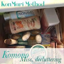marie kondo summary konmari method komono or miscellaneous decluttering from the
