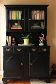 black painted dining room hutch eclectic san francisco by