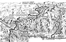 Map Of The Stars Los Angeles by Angeles Crest The Creation Of L A U0027s Highway Into The Heavens Kcet