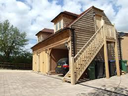 oak garage with room above sheds greenhouses garages garden